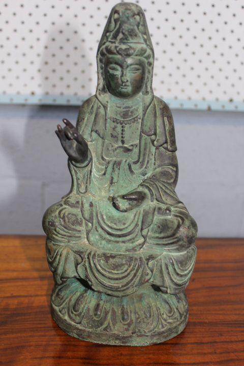 SOLD FOR $450 Guan Yin Bronze Statue at Auction this Saturday Ming Dy available at Gowans Auctions - Tasmania Australia Saturday 29th June 2013 at http://www.gowansauctions.com.au/auctions.php?act=antique