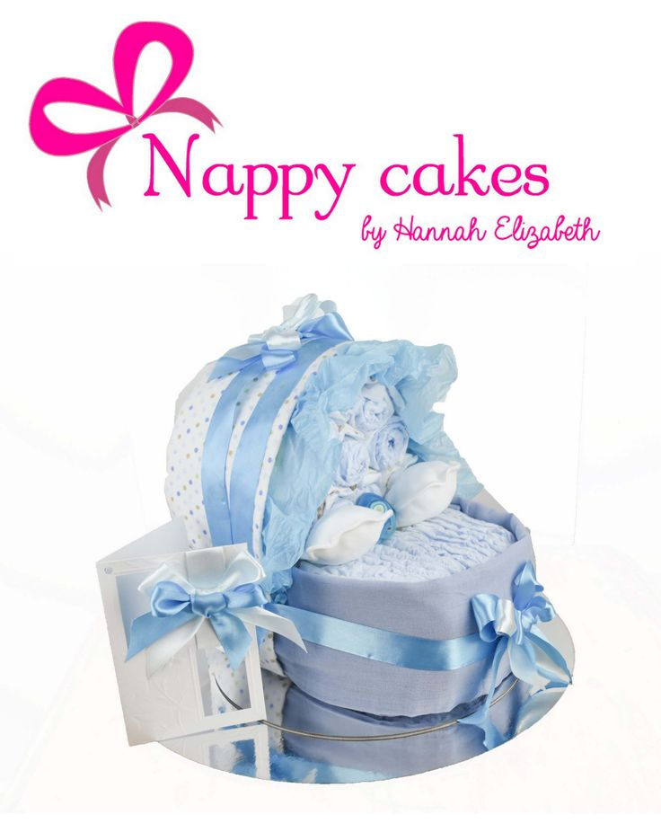 Its a BOY - Baby Bassinet Nappy cake - Baby Cradle Nappy cake. Isnt this Darling? This is the Perfect Baby shower gift as its what is coming for the Mum & Dad to be. A little boy all tucked up in his Bassinet. This is full of goddies and you can always add to this gift too.   http://www.nappycakesbyhannahelizabeth.com/apps/webstore/products/show/6260949