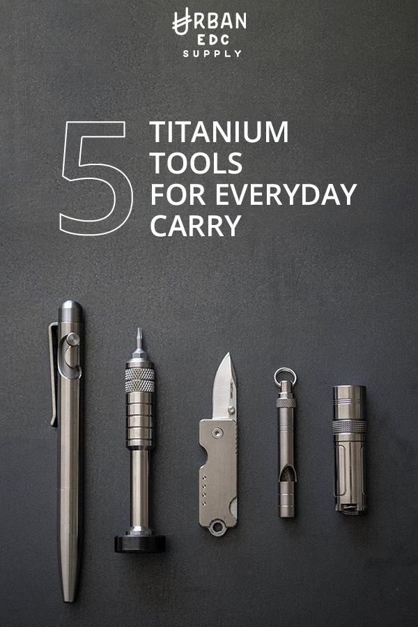 Titanium makes the world go around. Urban EDC Supply has an incomparable selection of everyday carry items, including these 5 titanium must-haves � Tactile Turn Slider & Glider Pen, Scout Leather Co. Hex Bit Driver, Quiet Carry Bandit Keychain Knife, Titaner Survival Whistle and Muyshondt Maus Mk. I Flashlight. Shop today at urbanedcsupply.com