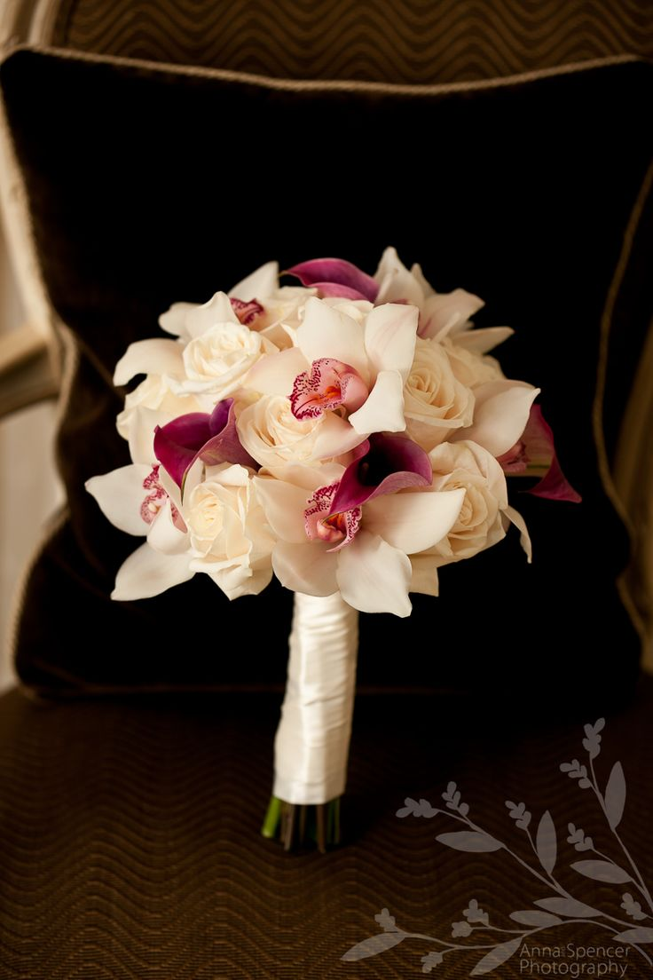 Rose, Calla lily, orchid bouquet...take out the rose and add baby's breath