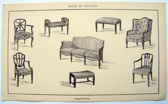 1920s Antiquefurniture Print Hepplenwhite Furniture Print