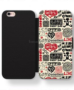 Love First Time Doodle iPhone cases, Samsung case, Wallet Phone cases
