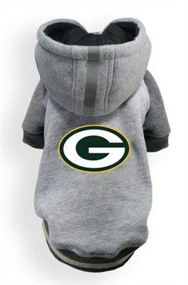 Green Bay PACKERS NFL  dog Helmet Hoodie in color Athletic Gray