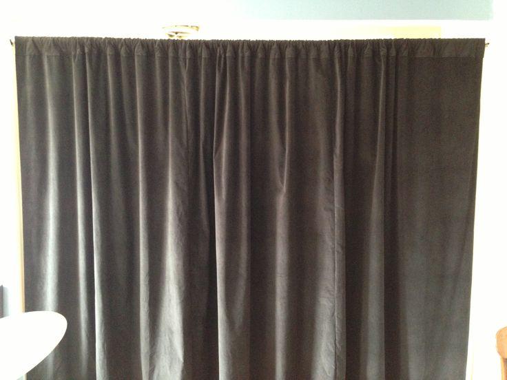 Black Velvet Curtain Soundproofing Room Divider Our