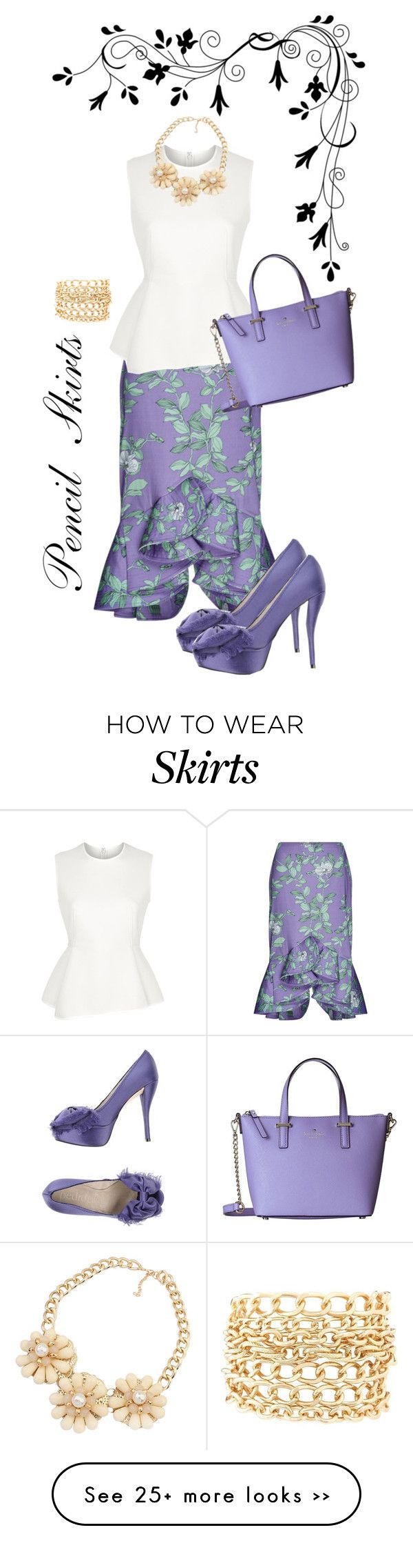 """""""Summer Pencil Skirt"""" by cupcakegrl12 on Polyvore"""