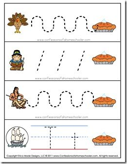 Preschool Thanksgiving Activities | Thanksgiving Preschool FREE Printables | Confessions of a Homeschooler