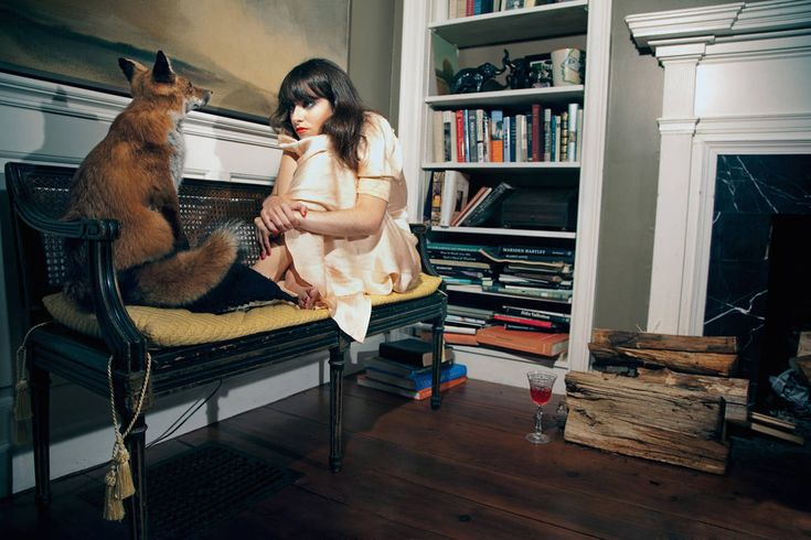 Myth, Stories and Characters, Untitled, [ Lucy and the Fox]   From a unique collection of portrait photography at https://www.1stdibs.com/art/photography/portrait-photography/