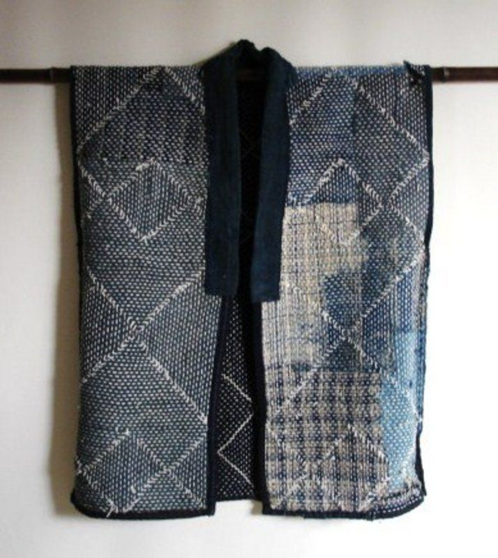 japanese vintage mingei textile cotton sashiko vest shashiko quilts et appliqu s pinterest. Black Bedroom Furniture Sets. Home Design Ideas