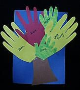 Family Handprints Tree