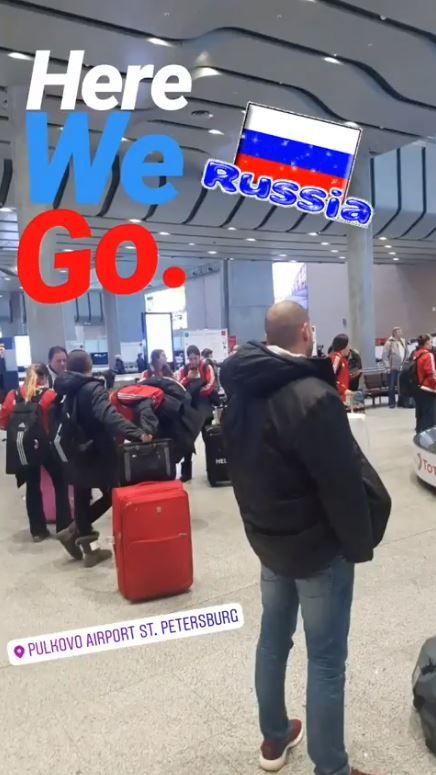 Έφτασε στη Ρωσία η γυναικεία ομάδα πόλο του Θρύλου! #Red_White #Kinef_Kirishi #Olympiacos #LENEuroleague