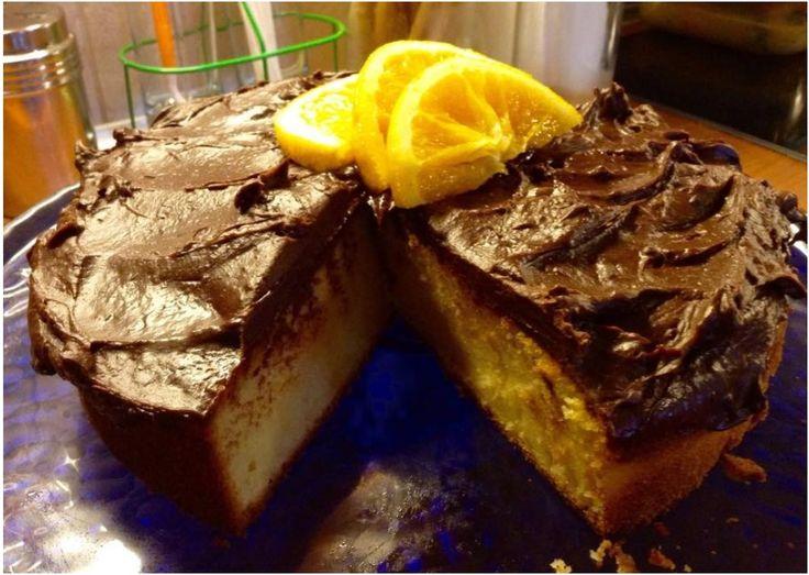 ΜΑΓΕΙΡΙΚΗ ΚΑΙ ΣΥΝΤΑΓΕΣ: Κέικ πορτοκαλιού με επικάλυψη σοκολάτας !!! ΘΕΙΚΟ !!