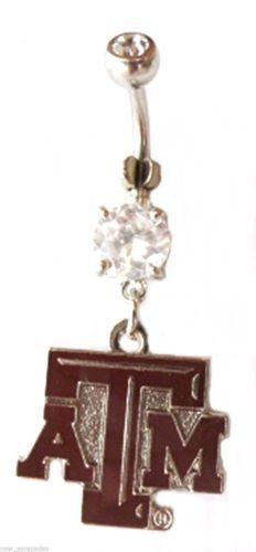 Belly Ring College Texas A&M Aggies Dangle Naval Body Jewelry