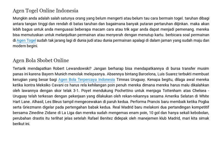 Situs terbaik agen bola dan togel online indonesia
