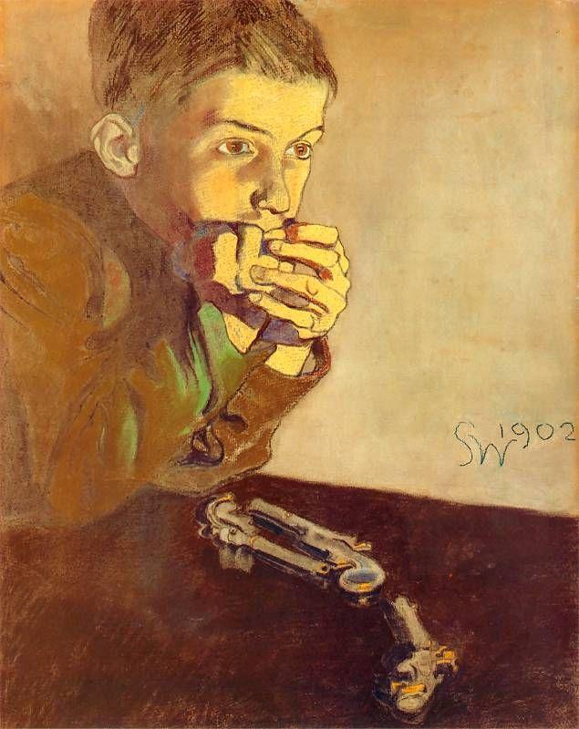 Stanisław Wyspiański, A boy with guns, 1902