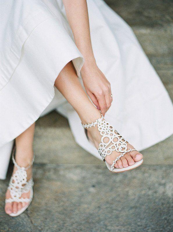 White Wedding Sandals For Bride Strappy Heels For Bride Stephanie Scholl Events White Sandals Wedding Wedding Sandals For Bride Wedding Sandals