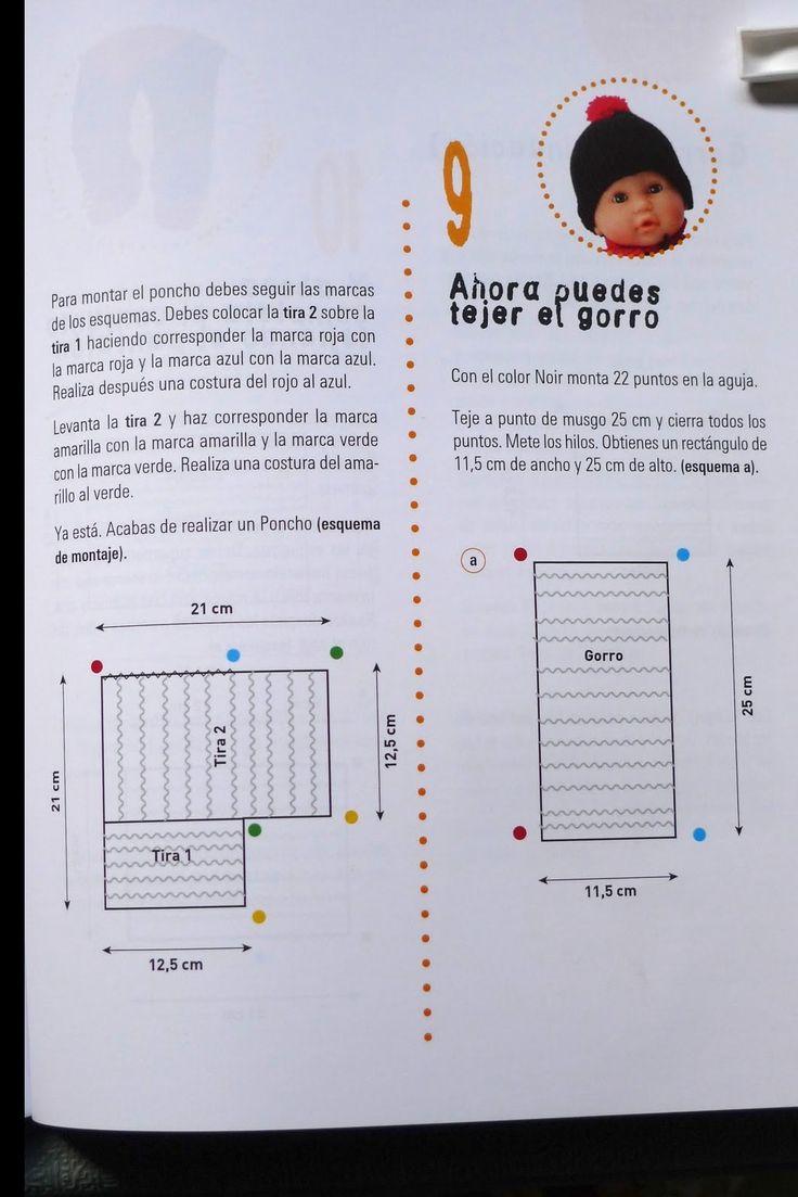 Estos gráficos los encontré, así que los comparto con todas vosotras:      Aquí el patrón a seguir del poncho:    El patrón del gorrito:    ...