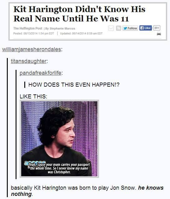 Game of Thrones funny fact about Kit Harington