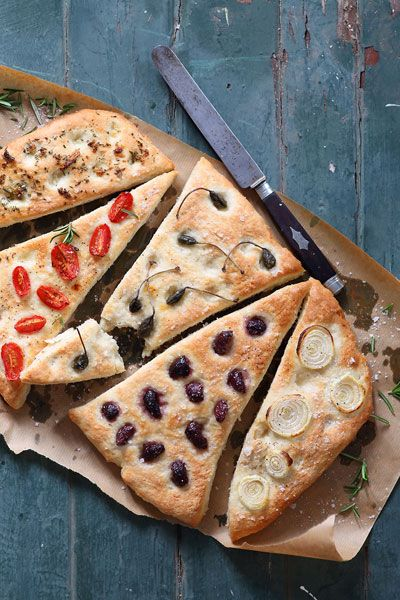 Crispy on the outside, soft on the inside – these focaccia's ooze with rich Mediterranean flavours.