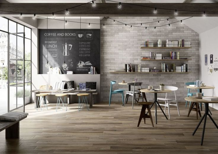 Wood look tiles inspired by the old planks taken from barrells used to store liqueurs. The result is a warm materia with variations in both shade and patterning. Supplied by Exto