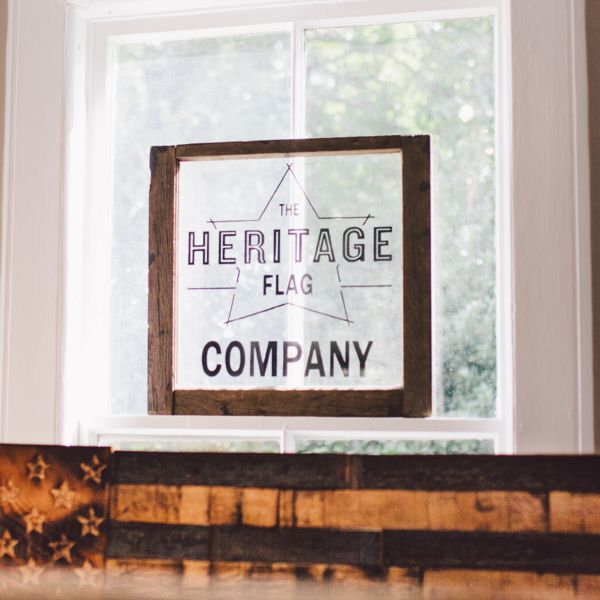 The Heritage Flag Company started as a dream.A dream and this 3amsketch on a grocery list.In 2014, custom home builder and cabinet maker Heath Trigg was in the midst of working on a special project - he was building a unique bar for...