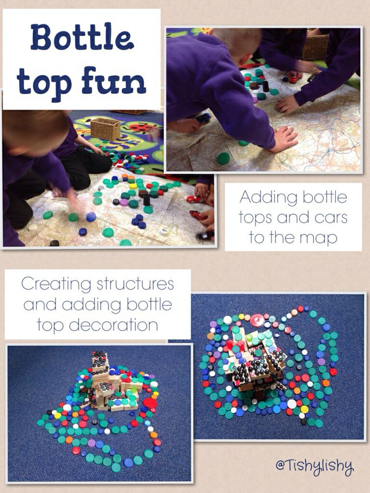 Fun with bottle tops!