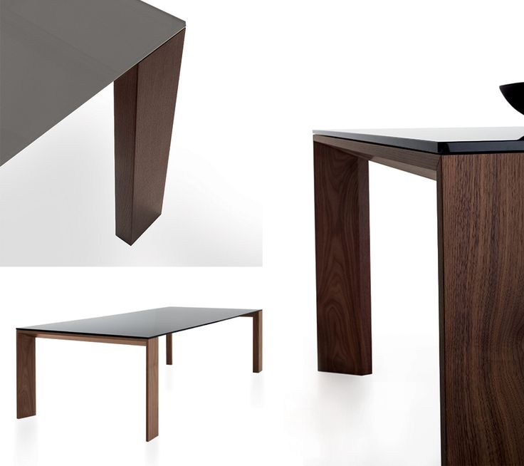 Toronto #designtable: the wooden base meets a sheet of lacquered glass http://bit.ly/1z0c0ob