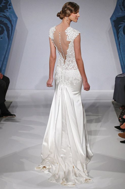 Mark Zunino wedding dress with illusion back, Spring 2013