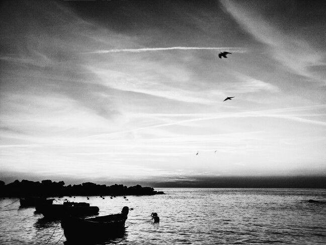 Atardecer en Monterroso al mare, Italia