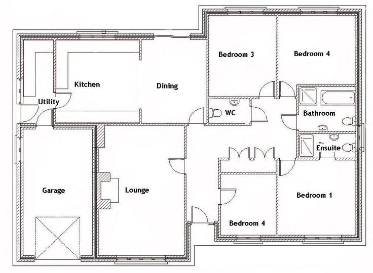 Four Bedroom Floor Plan House