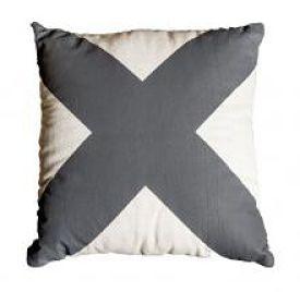 'X' Smoke Grey Cushion from The Stylist Splash shop