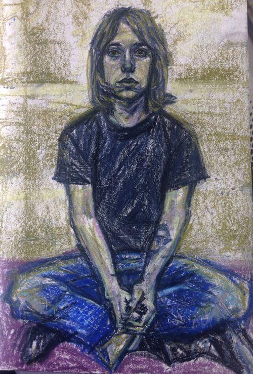 Sam by Paige Emery #drawing #pastel #contemporaryart #art #figure #portrait #impressionistic #impressionism
