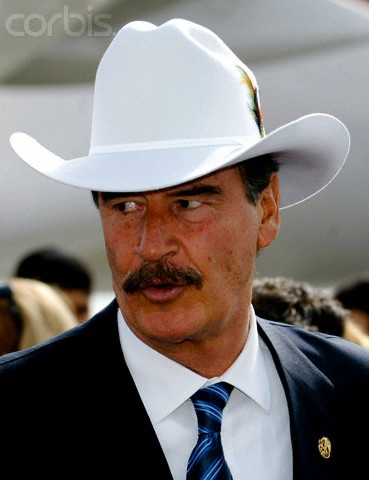 Ex-Mexican President Vicente Fox loved his white cowboy hat.