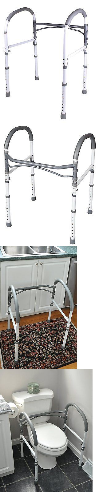 Handles and Rails: Carex Health Brands Bathroom Safety Rail BUY IT NOW ONLY: $73.54