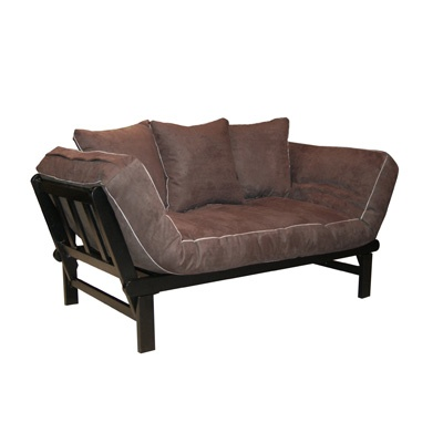 "Hudson Deluxe Combo Futon - Chocolate Suede $255. Sofa dimensions: 24.75""H x 60.625""L x 29.75""W. Sleeper dimensions: 20""H x 75""L x 36""W. Mattress thickness: 6 inches. Weight limit: 400lbs. Made in USA !!!: Chocolates Su, Elites Products, Combos Futons, Convertible Futons, Studios Couch, Daybeds, Bedrooms Furniture, Chocolates Futonsofa,  Day Beds"