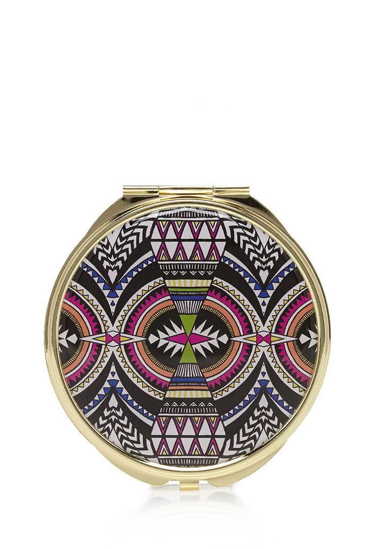 Southwestern Print Mirror Compact | Forever 21 - 1000130664