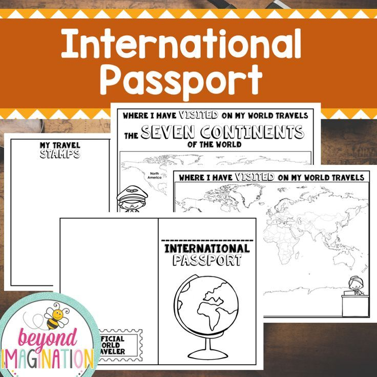 FREE international passport for kids to use and play with. Children love this printable passport craft.