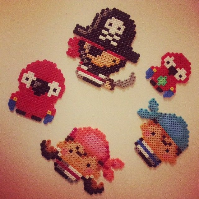 Pirate set hama perler beads by evalinneamarie