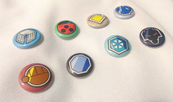 """Introducing my new 1"""" buttons. These buttons are inspired by badges given out by the the gym leaders in the 'Pokémon' series of video games and #anime that are won during th... #handmade #etsy #snowbunnystudios #shopsteam #symbol #teambuttonluv #pokémon #pkmn #バッジ #ポケットモンスターシリーズ #ポケモン"""