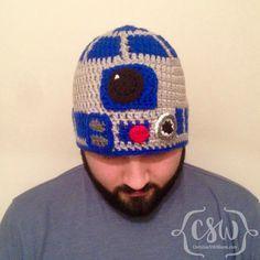 Star Wars' R2D2 Crochet Beanie - Pattern from HanDIY Video Tutorials