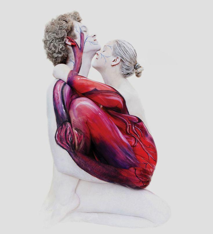 Creative Body Painting sur le corps de femmes nue par Gesine Marwedel