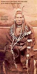 """""""Little Brave"""" Arikara Scout for the 7th Calvary. Little Brave was killed at the Battle of the Little Big Horn."""