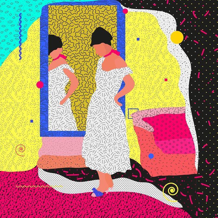 "Famous Paintings Interpretation Berthe Morisot ""The Psyche mirror""  ___________________________________ ... #illustration #painting #vector #mirror #challenge #classic #ewelinagaska #pattern #dribbble #fashion #warsaw #polishart #lovemyjob #lovemylife #berthemorisot #series #workinprogress #behance #gfxmob #fubiz #instagood #daily #flat #polishgirls #artist #designinspiration #creativesnack #me #happy"