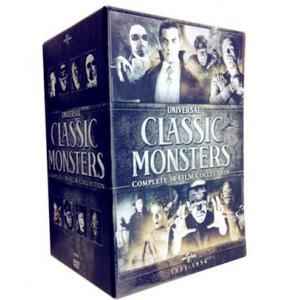 Universal Classic Monsters 30-Film Collection DVD Box Set. 1931-1956 complete series set new update online.