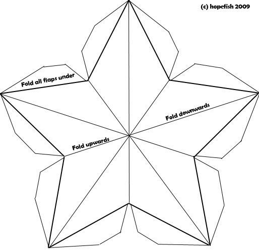 christmas paper crafts templates   Hopefish, the craft parcel company. - Construct 3D Christmas Stars