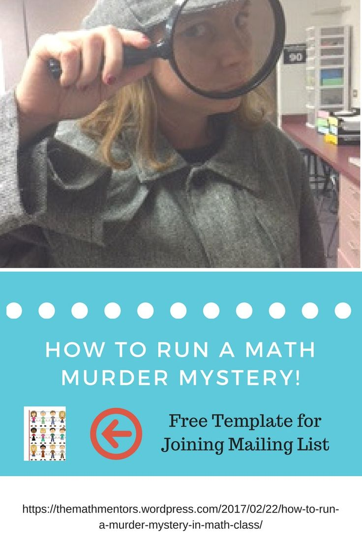 How to run a murder mystery|math game|algebra activity|maths 7-12|classroom activity