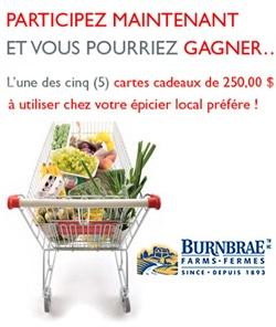 Gagner 250 $ d'épicerie avec les Fremes Burnbrae. Fin le 31 mars.   http://rienquedugratuit.ca/concours/epicerie-fremes-burnbrae/