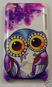 justice ipod cases for girls   Ipod Touch 4 4th GEN Case Cover Holder Hard PVC Cute Purple OWL NEW ...