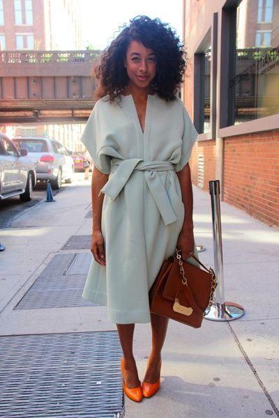 Blue Robe Coat 2017 Street Style