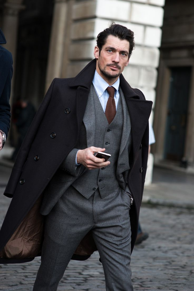 David Gandy - London Collections Men AW15: Men Street Style - January 2015 GQ.co.uk