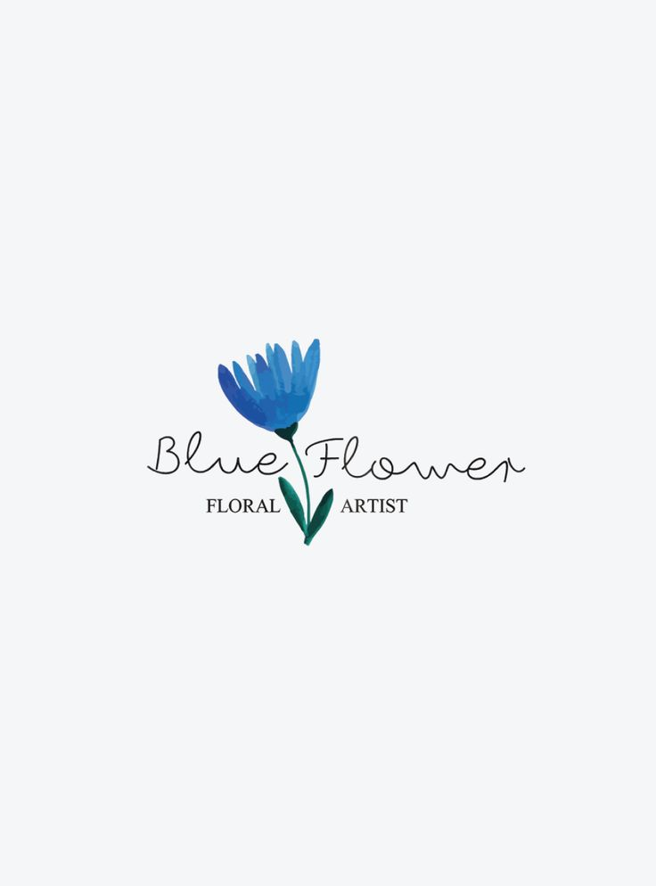 Logo Design by MintSwift for Blue Flower Floral Artist, family floral business creating unforgettable bouquets for weddings.